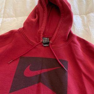 Men's Nike Burgandy red hoodie sweatshirt